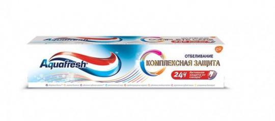 Aquafresh Зубная паста Комплексная защита отбеливание 100мл